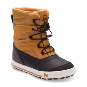 Merrell Snow Bank 2.0 Waterproof Stivali Bambino marrone/nero